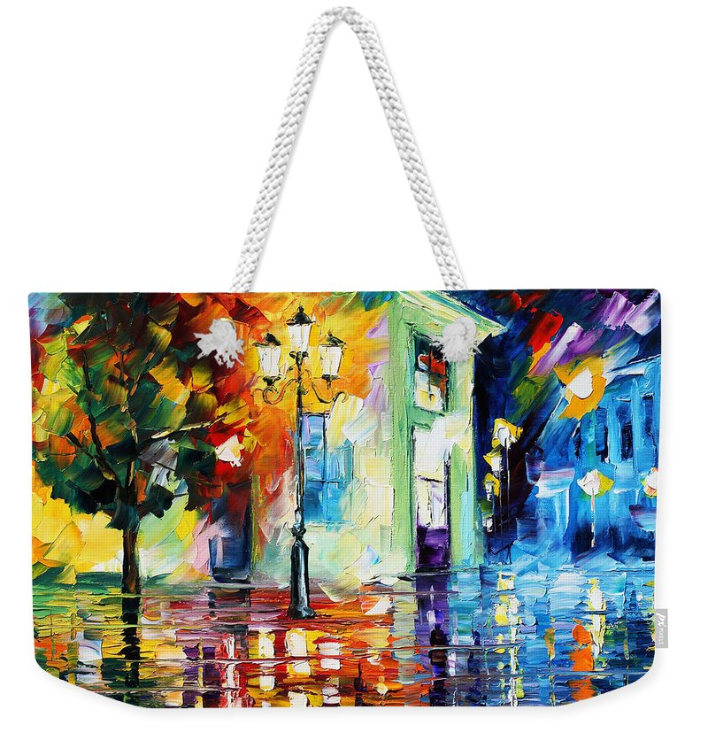 Afremov Weekender Tote Bag featuring the painting Amazing Night by Leonid Afremov