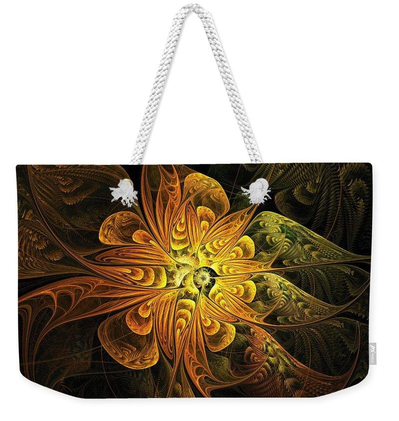 Digital Art Weekender Tote Bag featuring the digital art Amber Light by Amanda Moore