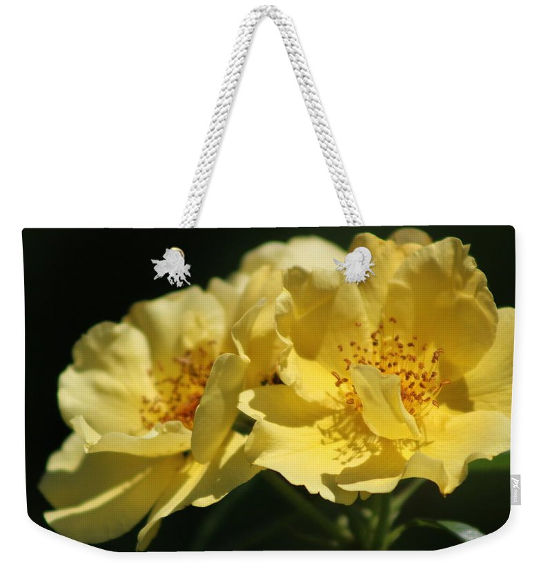 Amber Yellow Country Rose Overnight Bag