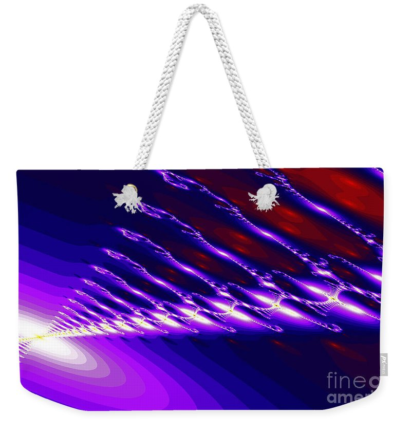 Clay Weekender Tote Bag featuring the digital art Ambient Noise by Clayton Bruster
