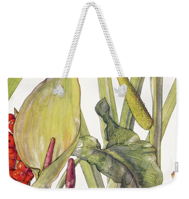 Calla Lily Weekender Tote Bag featuring the painting Ambrosia Xii by Mindy Sommers
