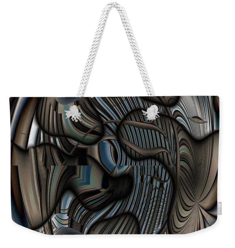 Gradients Weekender Tote Bag featuring the digital art Ameboids by Ron Bissett