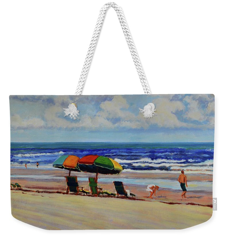 Impressionism Weekender Tote Bag featuring the painting Amelia Afternoon by Keith Burgess