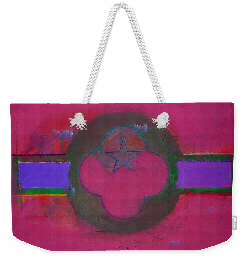 Star Weekender Tote Bag featuring the painting American Cats And Poppies by Charles Stuart
