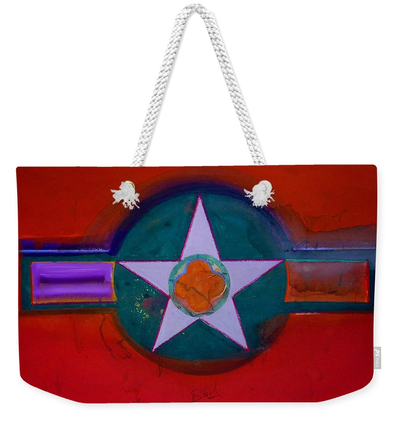Star Weekender Tote Bag featuring the painting American Chinoiserie by Charles Stuart