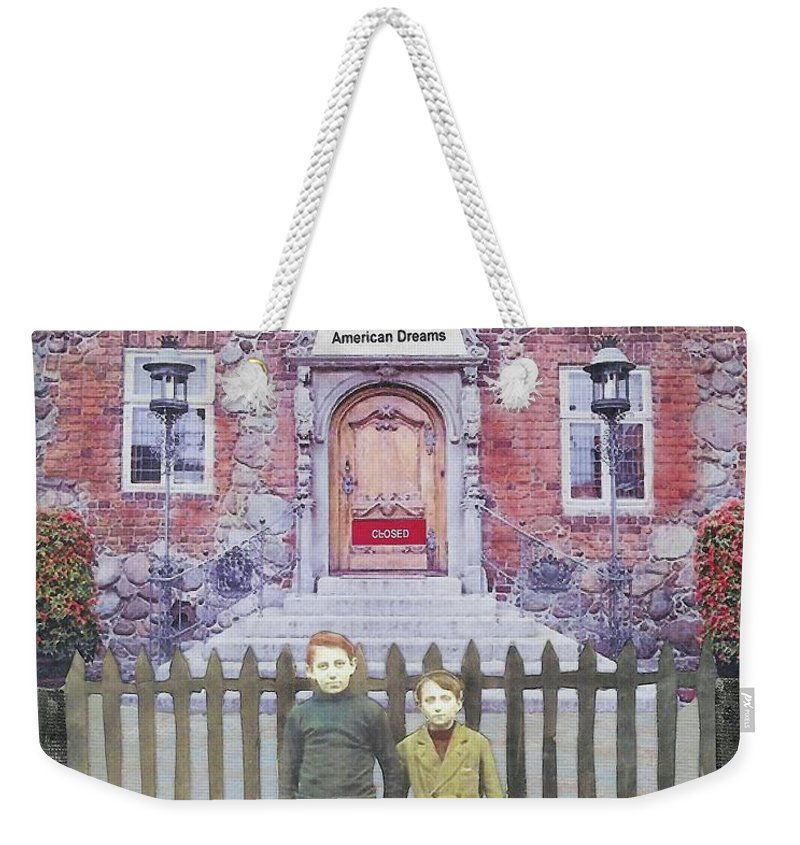 American Dream Weekender Tote Bag featuring the mixed media American Dreams by Desiree Paquette