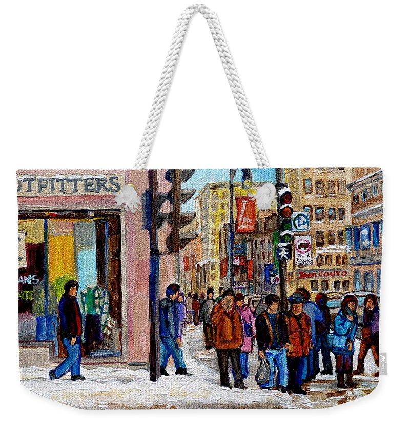 American Eagle Outfitters Weekender Tote Bag featuring the painting American Eagle Outfitters by Carole Spandau