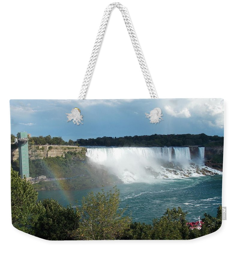 American Weekender Tote Bag featuring the photograph American Falls 1 by Nina Kindred