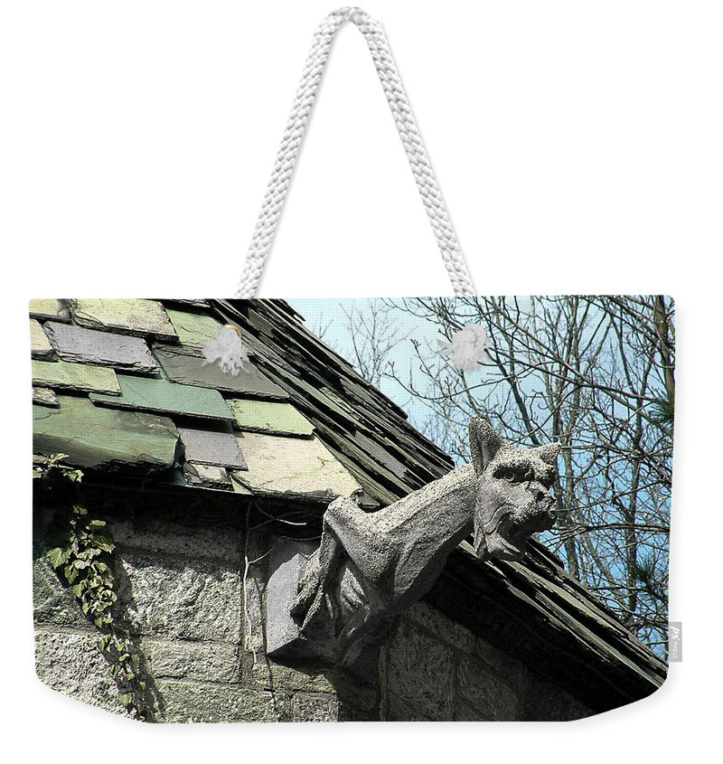 Architecture Weekender Tote Bag featuring the photograph American Gargoyle by RC DeWinter