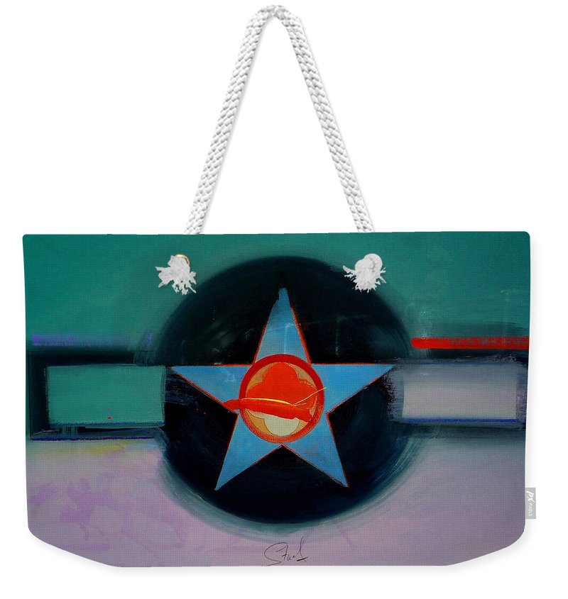 Star Weekender Tote Bag featuring the painting American Landscape by Charles Stuart