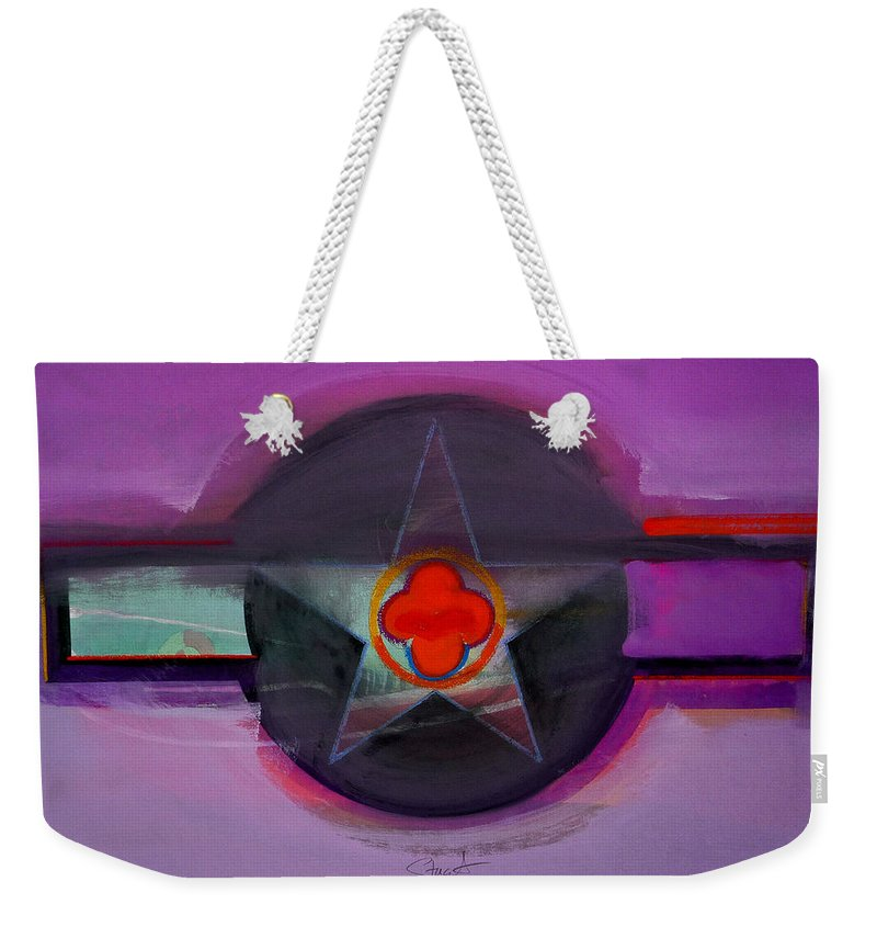 Star Weekender Tote Bag featuring the painting American Lilac by Charles Stuart