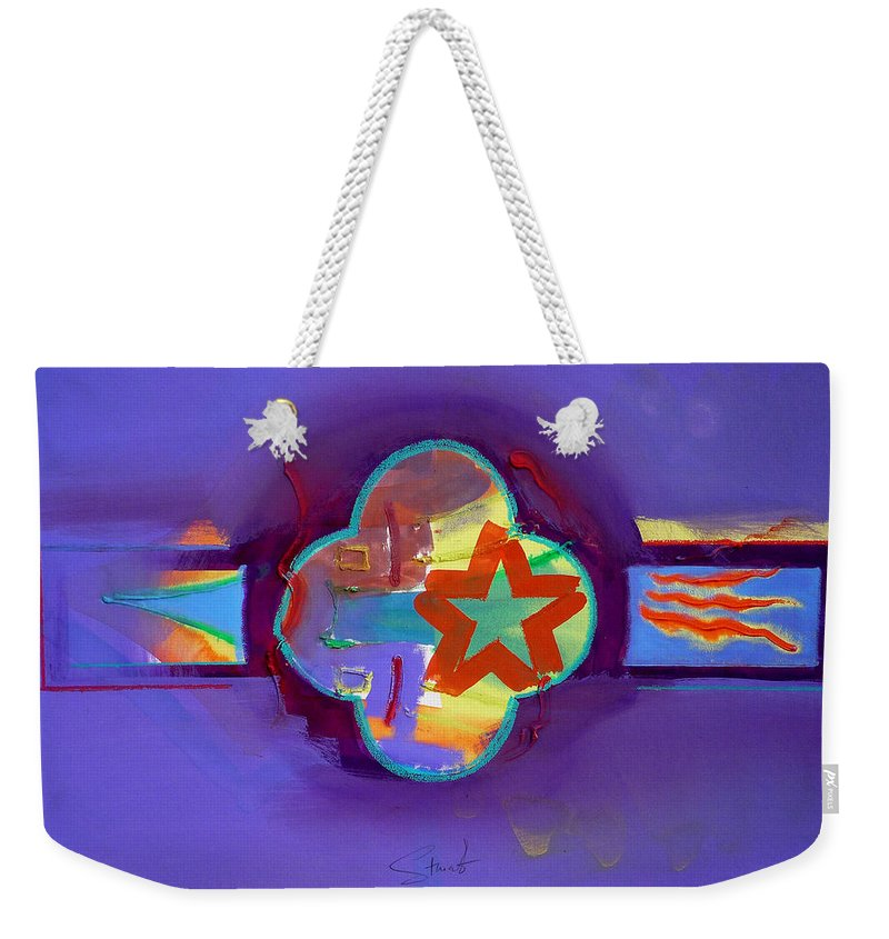 Star Weekender Tote Bag featuring the painting American Neon by Charles Stuart