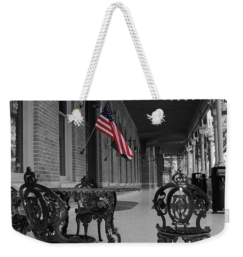 University Weekender Tote Bag featuring the photograph American Past by Jost Houk