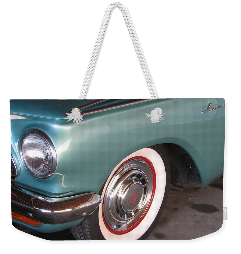 Rambler Weekender Tote Bag featuring the photograph American Rambler by Kelly Mezzapelle