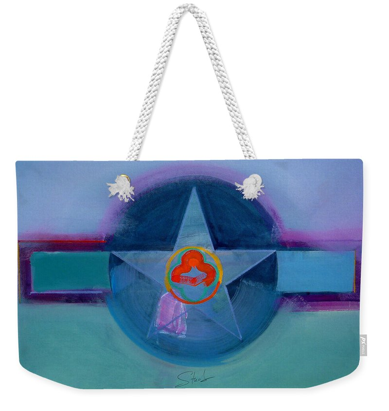 Star Weekender Tote Bag featuring the painting American Spiritual by Charles Stuart