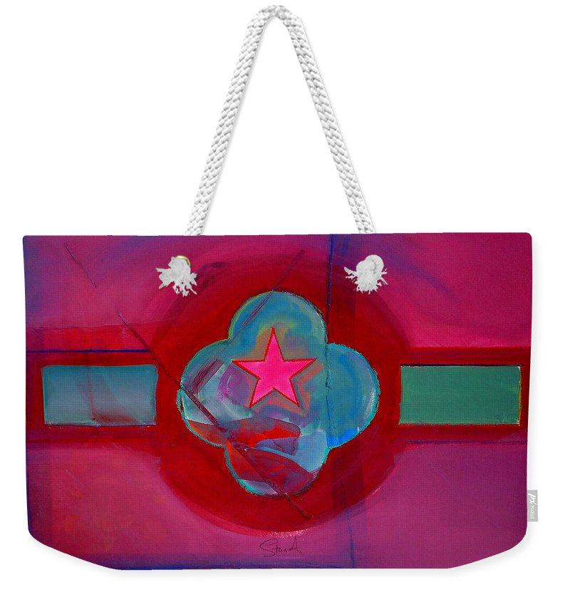 Star Weekender Tote Bag featuring the painting American Spiritual Decal by Charles Stuart