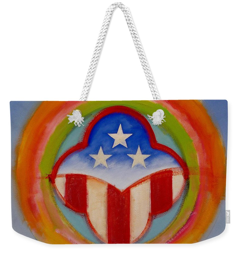 Logo Weekender Tote Bag featuring the painting American Three Star Landscape by Charles Stuart