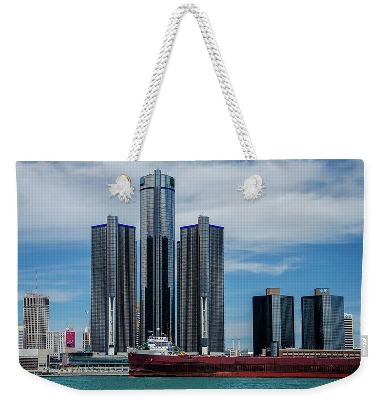 Gales Of November Weekender Tote Bag featuring the photograph American Victory At Detroit by Gales Of November