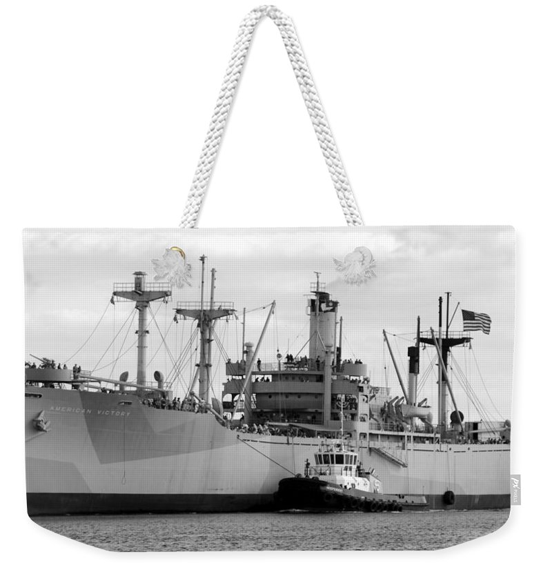 American Victory Coming Home Weekender Tote Bag featuring the photograph American Victory Coming Home by David Lee Thompson