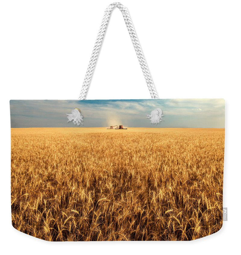 Two Weekender Tote Bag featuring the photograph America's Breadbasket by Todd Klassy