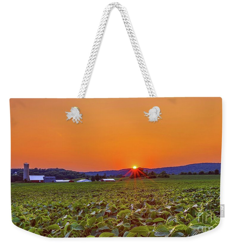 Sunset Weekender Tote Bag featuring the photograph America's Heartland by Monica Hall