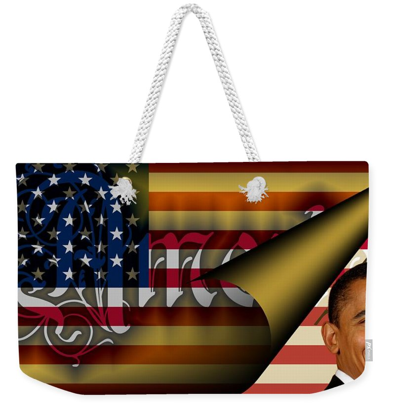 America Weekender Tote Bag featuring the digital art Americas New Design 2009 by Helmut Rottler