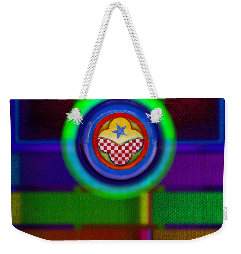 Ame-mua Weekender Tote Bag featuring the painting Amerikamura Twilight by Charles Stuart