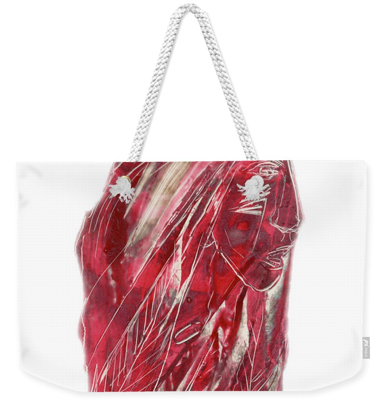 American Weekender Tote Bag featuring the painting Amerind by Jason Girard