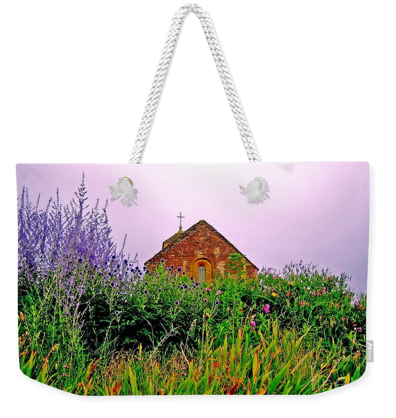 Chapel Weekender Tote Bag featuring the photograph Ameugny 3 by Jeff Barrett