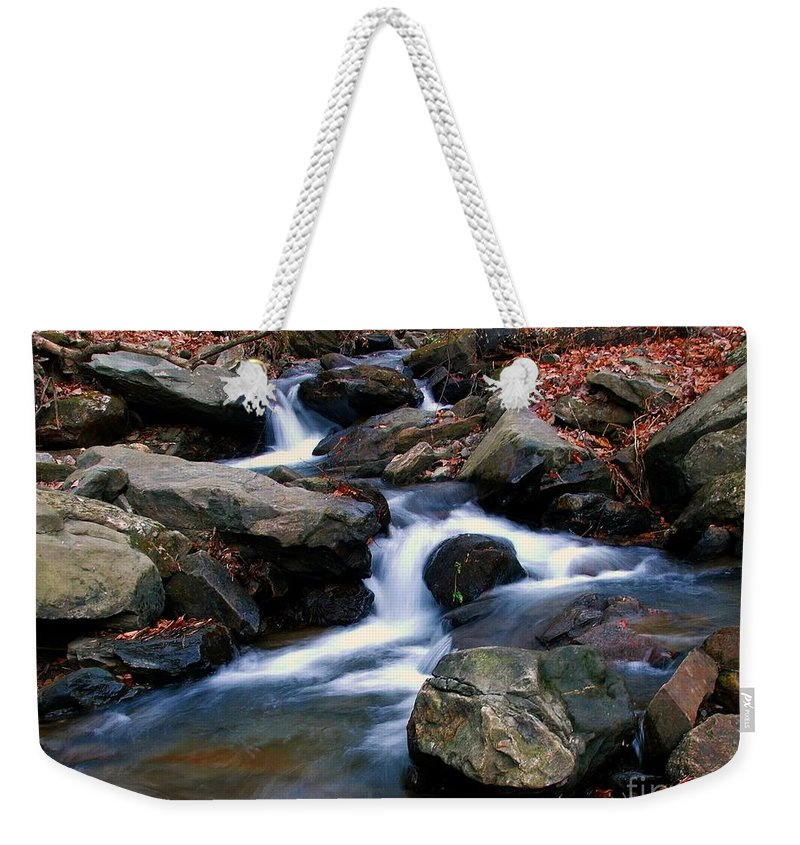 Water Weekender Tote Bag featuring the photograph Amicalola Stream by Robert Meanor