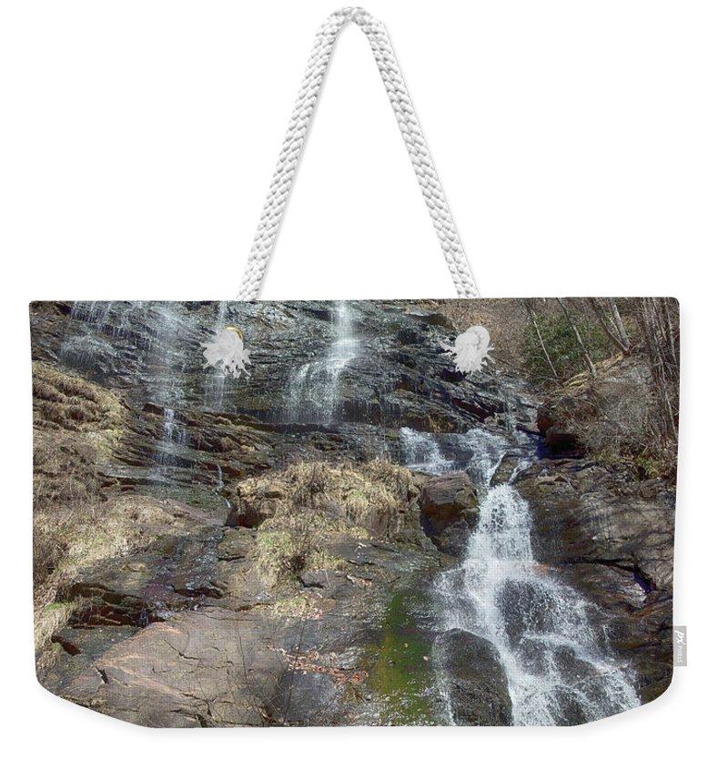 Amicalola Falls Weekender Tote Bag featuring the photograph Amicolola Falls by Tom Gari Gallery-Three-Photography
