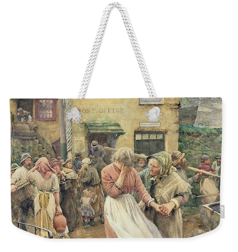Among The Missing Weekender Tote Bag featuring the painting Among The Missing by Walter Langley