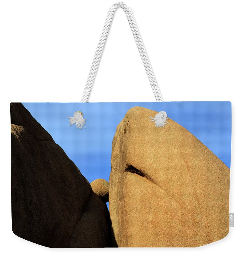 Joshua Tree National Park Weekender Tote Bag featuring the photograph Amongst Giants by Bob Christopher