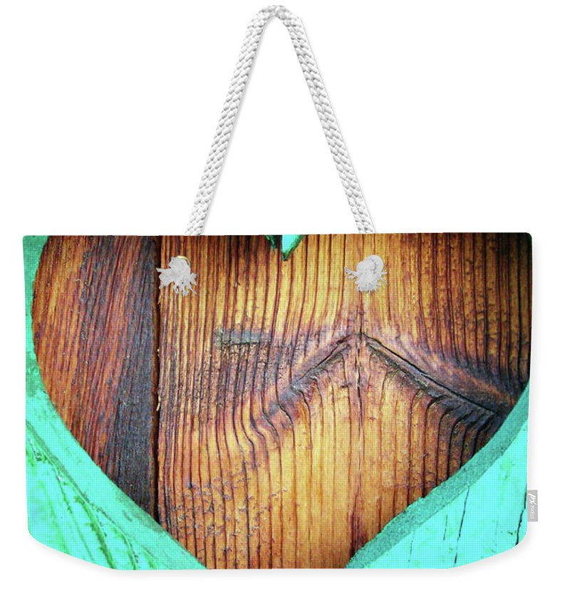 Heart Weekender Tote Bag featuring the photograph Amor ... by Juergen Weiss