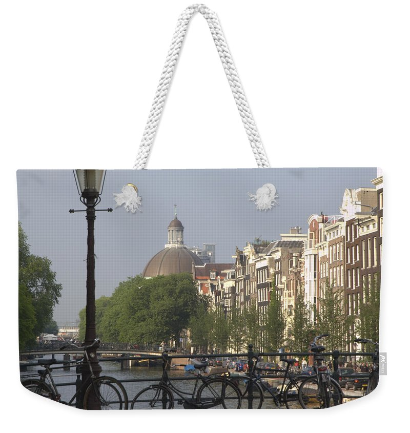 Amsterdam Weekender Tote Bag featuring the photograph Amsterdam Bridge by Andy Smy