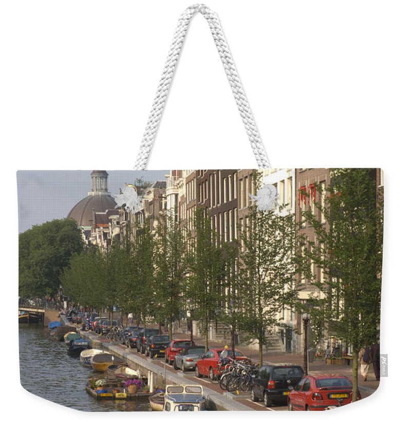 Amsterdam Weekender Tote Bag featuring the photograph Amsterdam Canal by Andy Smy