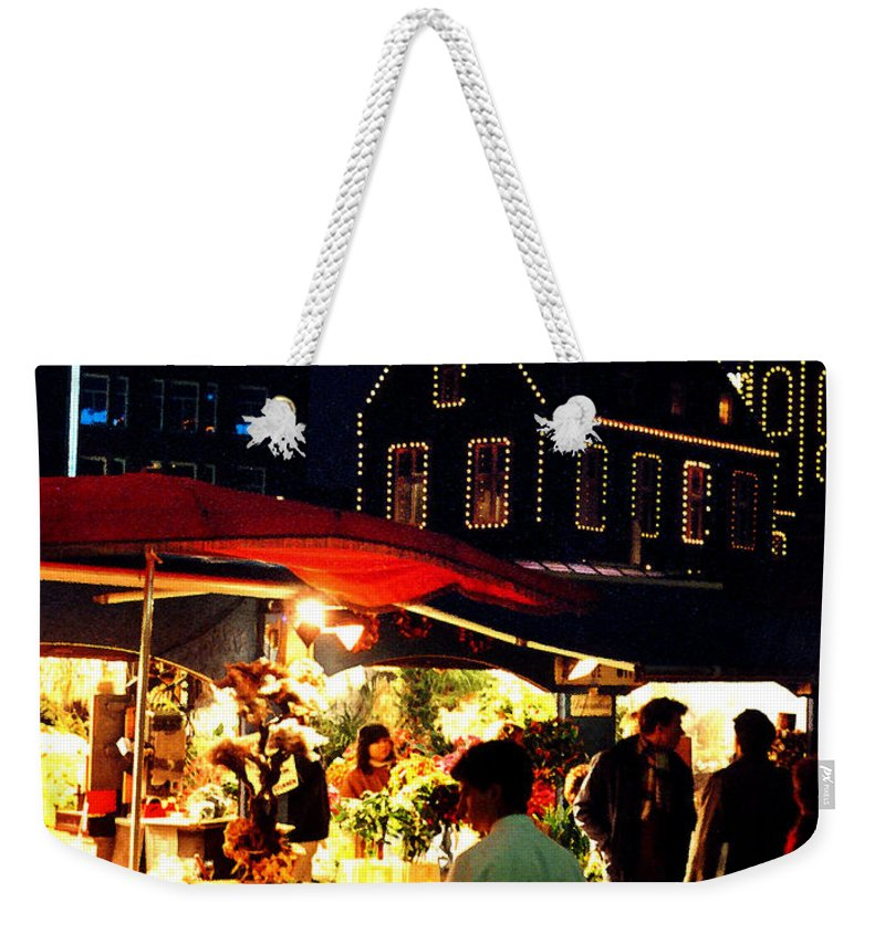 Flowers Weekender Tote Bag featuring the photograph Amsterdam Flower Market by Nancy Mueller