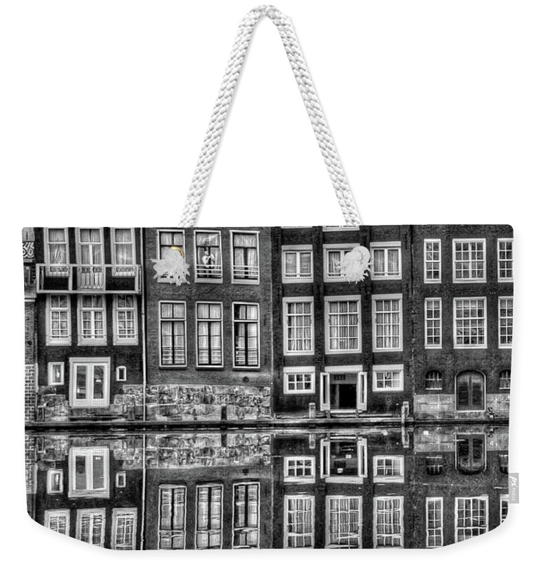 Amsterdam Weekender Tote Bag featuring the photograph Amsterdam Reflections by Bill Lindsay