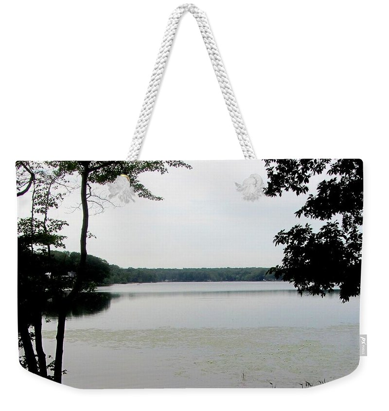 Nature Weekender Tote Bag featuring the photograph Amston Lake by Barb Montanye Meseroll
