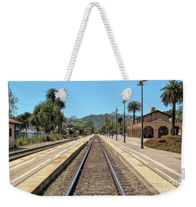 Amtrak Station Weekender Tote Bag featuring the photograph Amtrak Station, Santa Barbara, California by Joe Lach