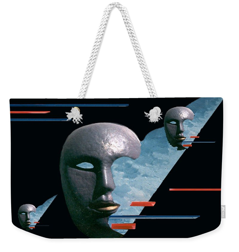 Surreal Weekender Tote Bag featuring the digital art An Androids Dream by Steve Karol