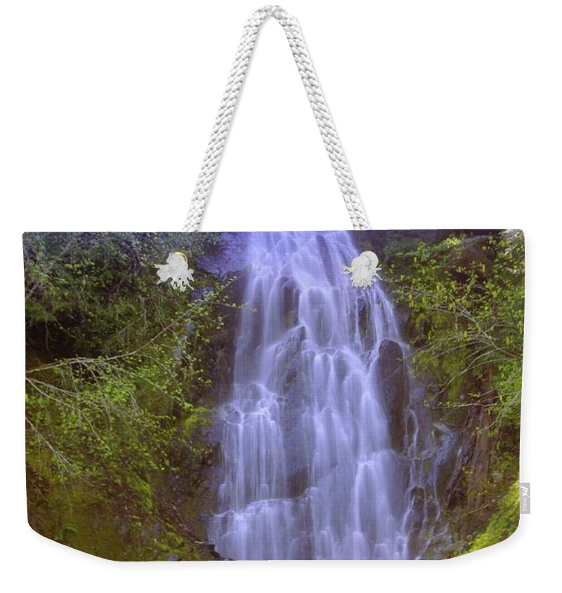 Waterfalls Weekender Tote Bag featuring the photograph An Angel In The Falls by Jeff Swan