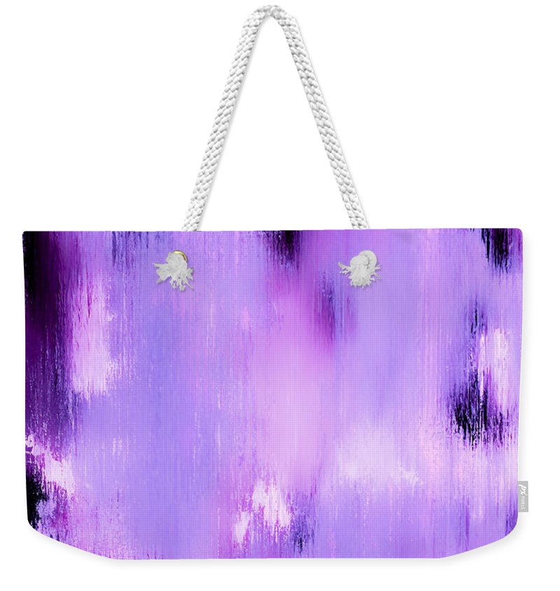 Abstract Weekender Tote Bag featuring the painting An Angels Flight by Wayne Cantrell