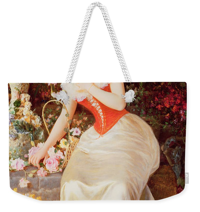 Array Weekender Tote Bag featuring the painting An Array Of Beauty by Oreste Costa