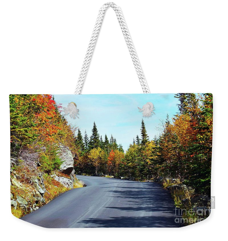 Autumn Drive Weekender Tote Bag featuring the photograph An Autumn Drive by Patti Whitten