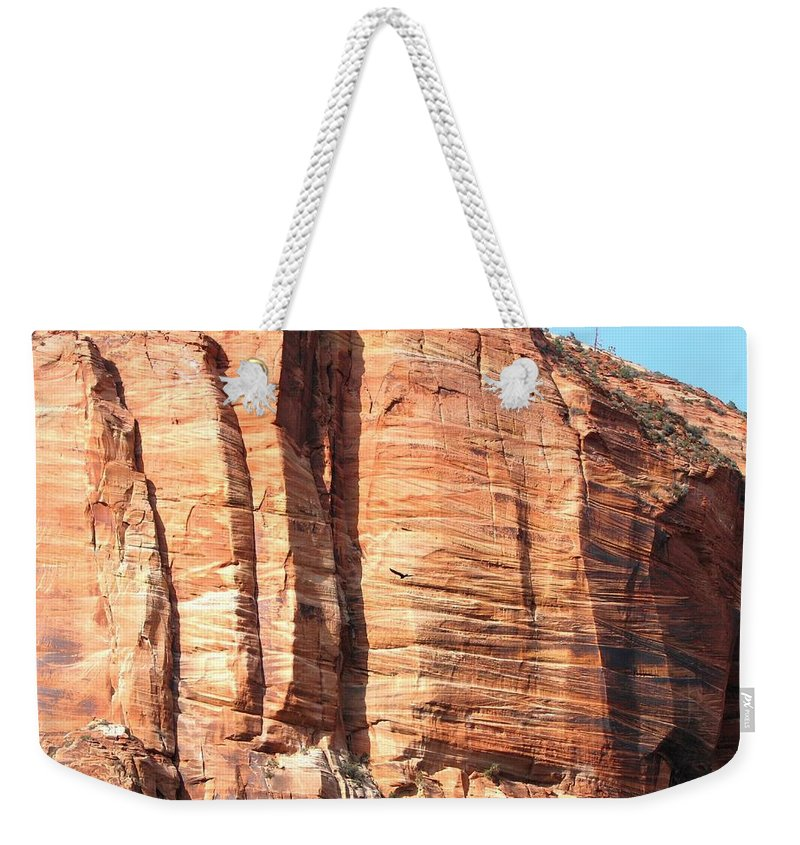An Eagle Soars Weekender Tote Bag featuring the photograph An Eagle Soars by Will Borden