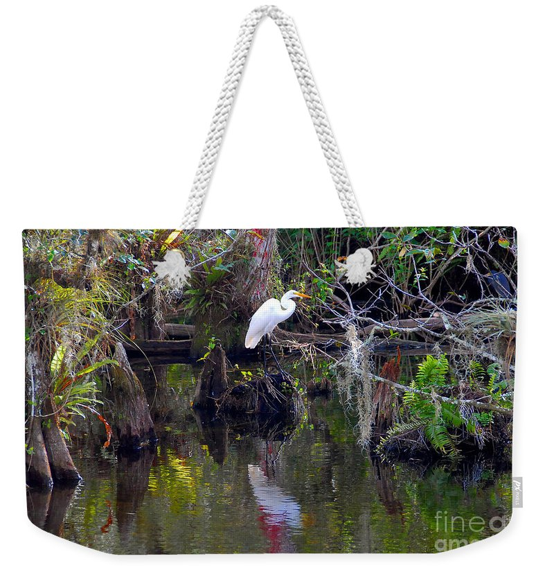 Everglades National Park Florida Weekender Tote Bag featuring the photograph An Egrets World by David Lee Thompson
