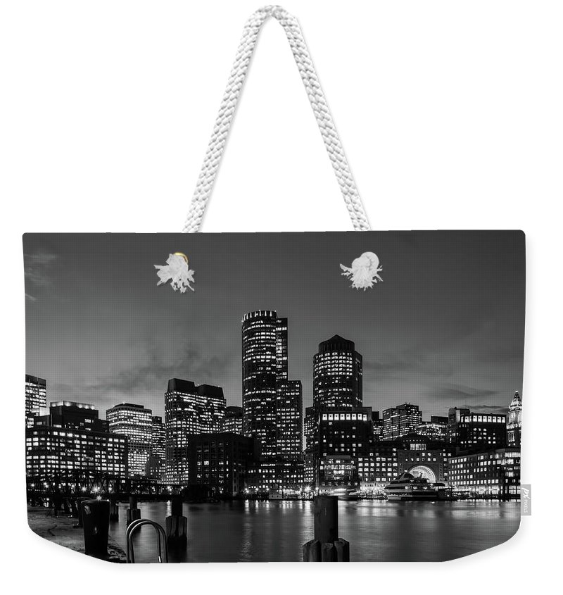 Boston Weekender Tote Bag featuring the photograph An Evening In Boston by Unsplash