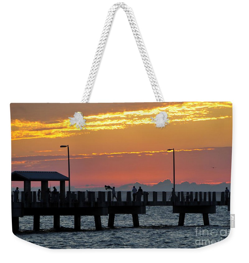 Fishing Weekender Tote Bag featuring the photograph An Evenings Cast by David Lee Thompson
