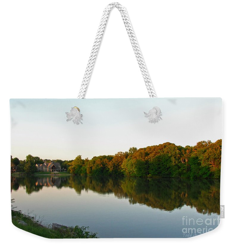 Landscape Weekender Tote Bag featuring the photograph An Excellent Vantage Point by Todd Blanchard